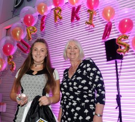Caitlin Kirkham is presented the winners award for Extraordinary Inspirer by Doncaster Children's Trust at the Doncaster Free Press Superkids.