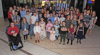 The finalists at the Doncaster Free Press Superkids.