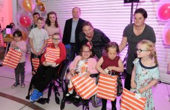The finalists for the Fearless Bravery award at the Doncaster Free Press Superkids.